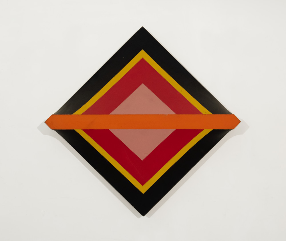 Sven Lukin (b. 1934), Eye, 1962. Oil on canvas construction 36 (H) x 36 (W) x 5 (D) inches