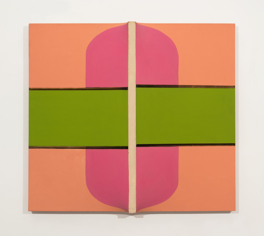 Sven Lukin (b. 1934), Untitled L#7, 1963. Oil on canvas construction 39 (H) x 43 1/2 (W) x 4 1/2 (D) inches