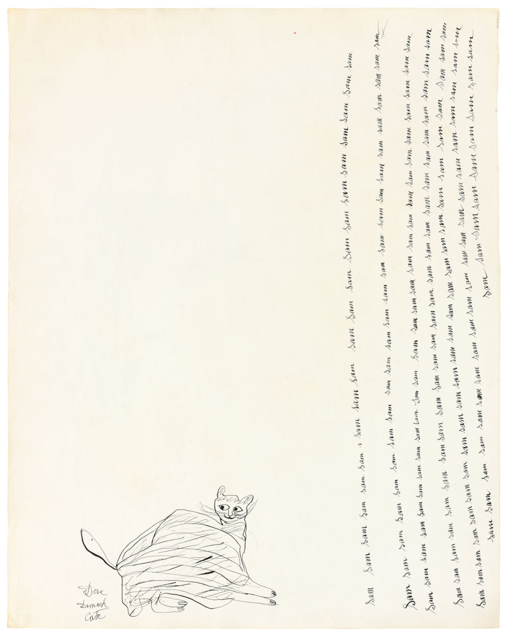 Untitled (Cats) (verso); Untitled (Rose) (recto)