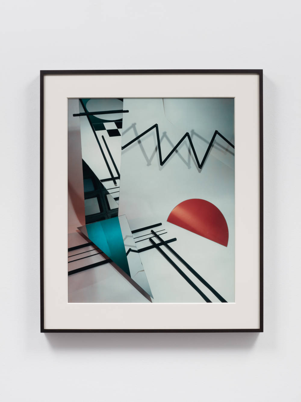 Barbara Kasten, Construct PC III-A, 1981. Polaroid 61 x 50.8 cm (24 x 20 in.) Version of 9 plus 3 AP, AP 2. Courtesy of the artist and Bortolami, New York