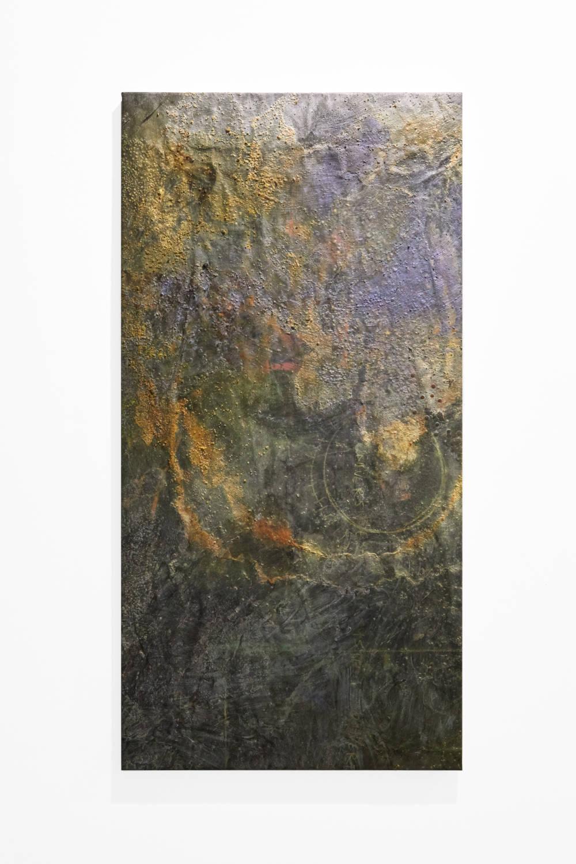 Bianca Bondi, Overlay (Univers), 2019. Mixed media, salt, latex 130 x 60 cm (51.18 x 23.62 inches) Courtesy of the artist & VNH Gallery. Photo: Johanna Benaïnous