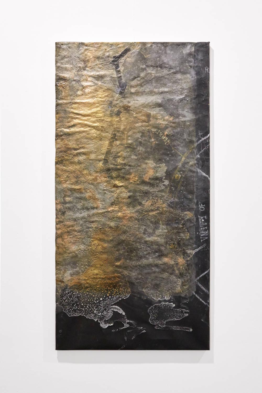 Bianca Bondi, Overlay (unity of heart), 2019. Mixed media, salt, latex 130 x 60 cm (51.18 x 23.62 inches) Courtesy of the artist & VNH Gallery. Photo: Johanna Benaïnous
