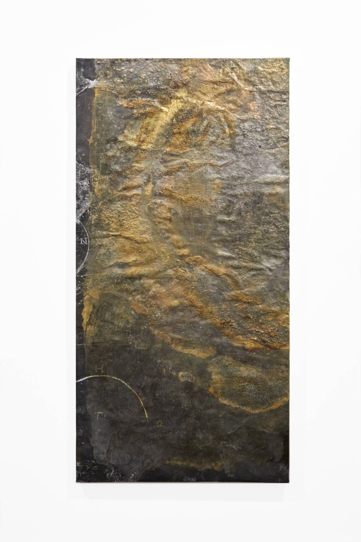 Bianca Bondi, Overlay (Z.N.H.T.G.), 2019. Mixed media, salt, latex 130 x 60 cm (51.18 x 23.62 inches) Courtesy of the artist & VNH Gallery. Photo: Johanna Benaïnous