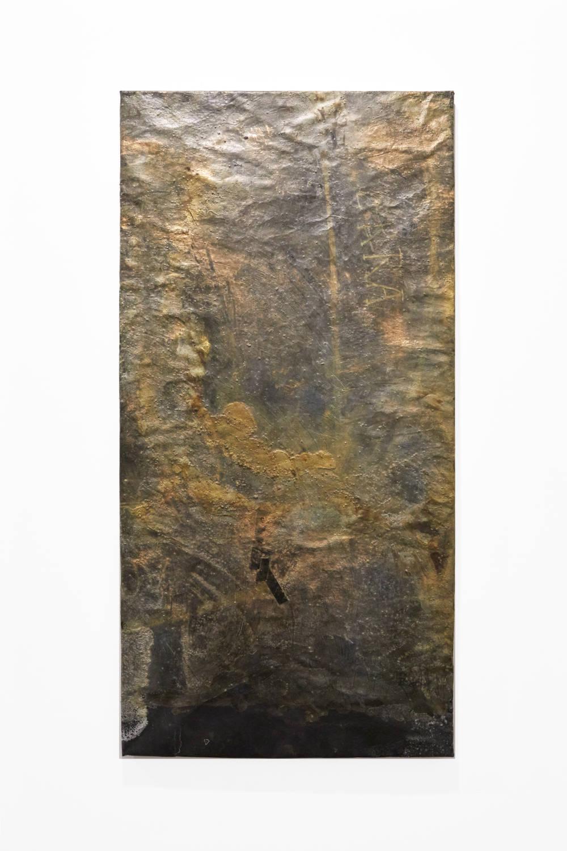 Bianca Bondi, Overlay (Terra), 2019. Mixed media, salt, latex 130 x 60 cm (51.18 x 23.62 inches) Courtesy of the artist & VNH Gallery. Photo: Johanna Benaïnous