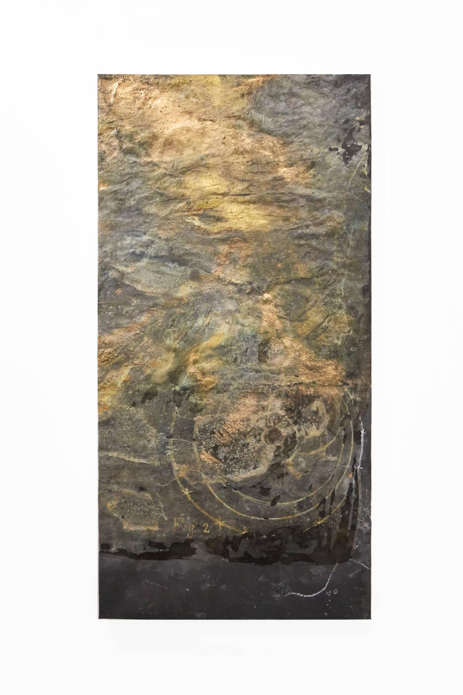Bianca Bondi, Overlay (fig. 2), 2019. Mixed media, salt, latex 130 x 60 cm (51.18 x 23.62 inches) Courtesy of the artist & VNH Gallery. Photo: Johanna Benaïnous