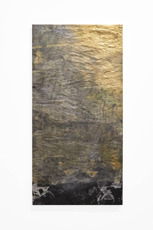 Bianca Bondi, Overlay (fig. 3), 2019. Mixed media, salt, latex 130 x 60 cm (51.18 x 23.62 inches) Courtesy of the artist & VNH Gallery. Photo: Johanna Benaïnous