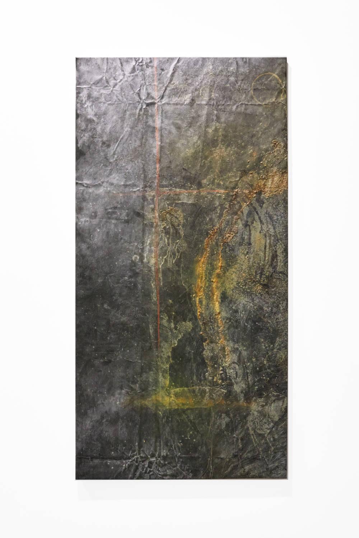 Bianca Bondi, Overlay (cross), 2019. Mixed media, salt, latex 130 x 60 cm (51.18 x 23.62 inches) Courtesy of the artist & VNH Gallery. Photo: Johanna Benaïnous