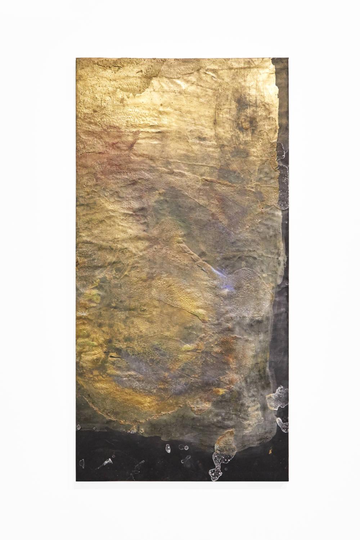 Bianca Bondi, Overlay (systema magicum), 2019. Mixed media, salt, latex 130 x 60 cm (51.18 x 23.62 inches) Courtesy of the artist & VNH Gallery. Photo: Johanna Benaïnous