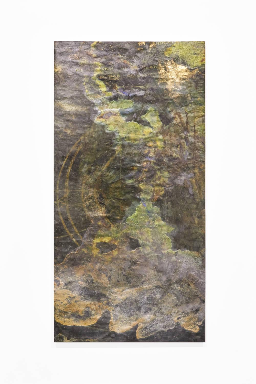 Bianca Bondi, Overlay (ocean), 2019. Mixed media, salt, latex 130 x 60 cm (51.18 x 23.62 inches) Courtesy of the artist & VNH Gallery. Photo: Johanna Benaïnous