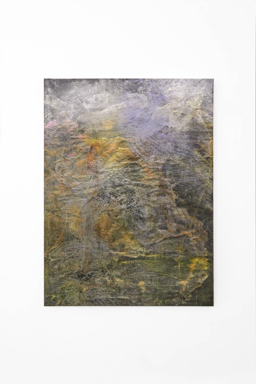 Bianca Bondi, Overlay (realm of chaos and night), 2019. Mixed media, salt, latex 130 x 100 cm (51.18 x 39.37 inches) Courtesy of the artist & VNH Gallery. Photo: Johanna Benaïnous