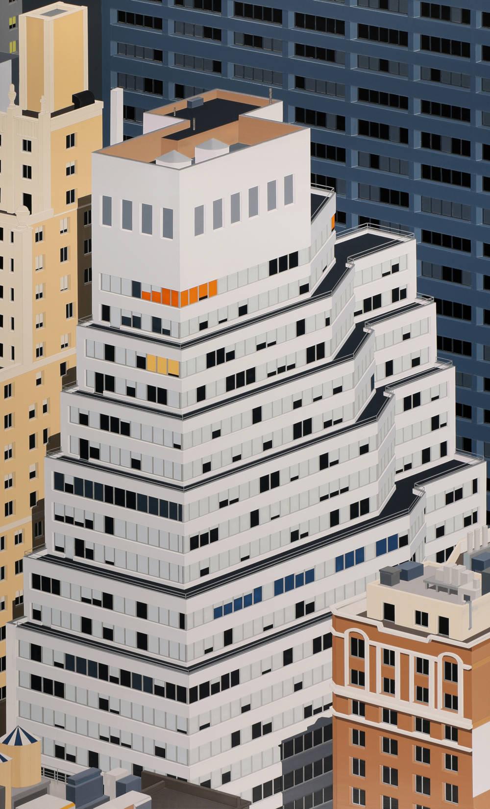 Daniel Rich, Manhattan, 2019. Acrylic on dibond, 100x60 cm