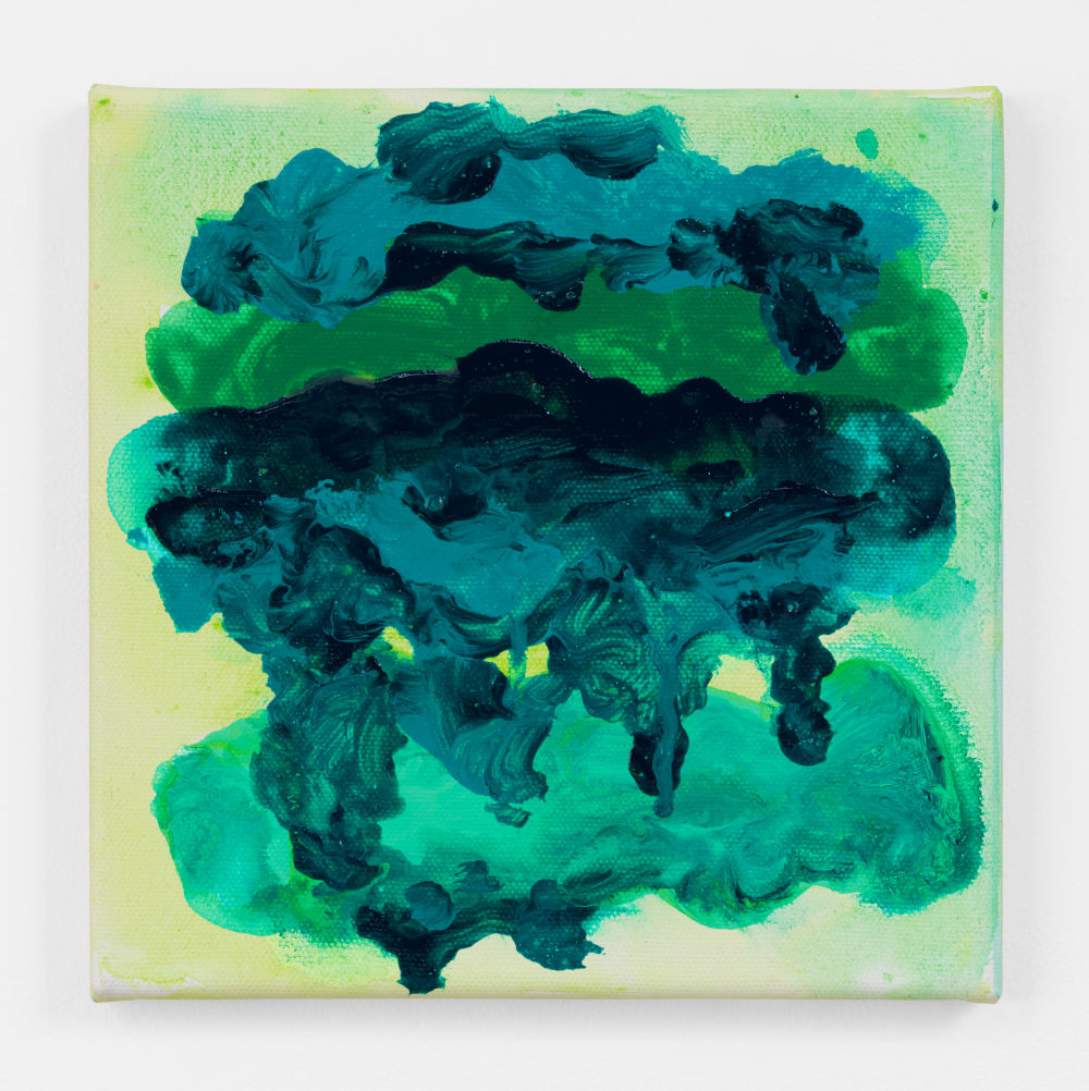 Mary Heilmann, Crashing Wave, 2017. Acrylic on canvas 8 x 8 x .625 inches (20.3 x 20.3 x 1.6 cm) © 2019 Mary Heilmann. Courtesy of the artist; 303 Gallery, New York; and Hauser & Wirth, London