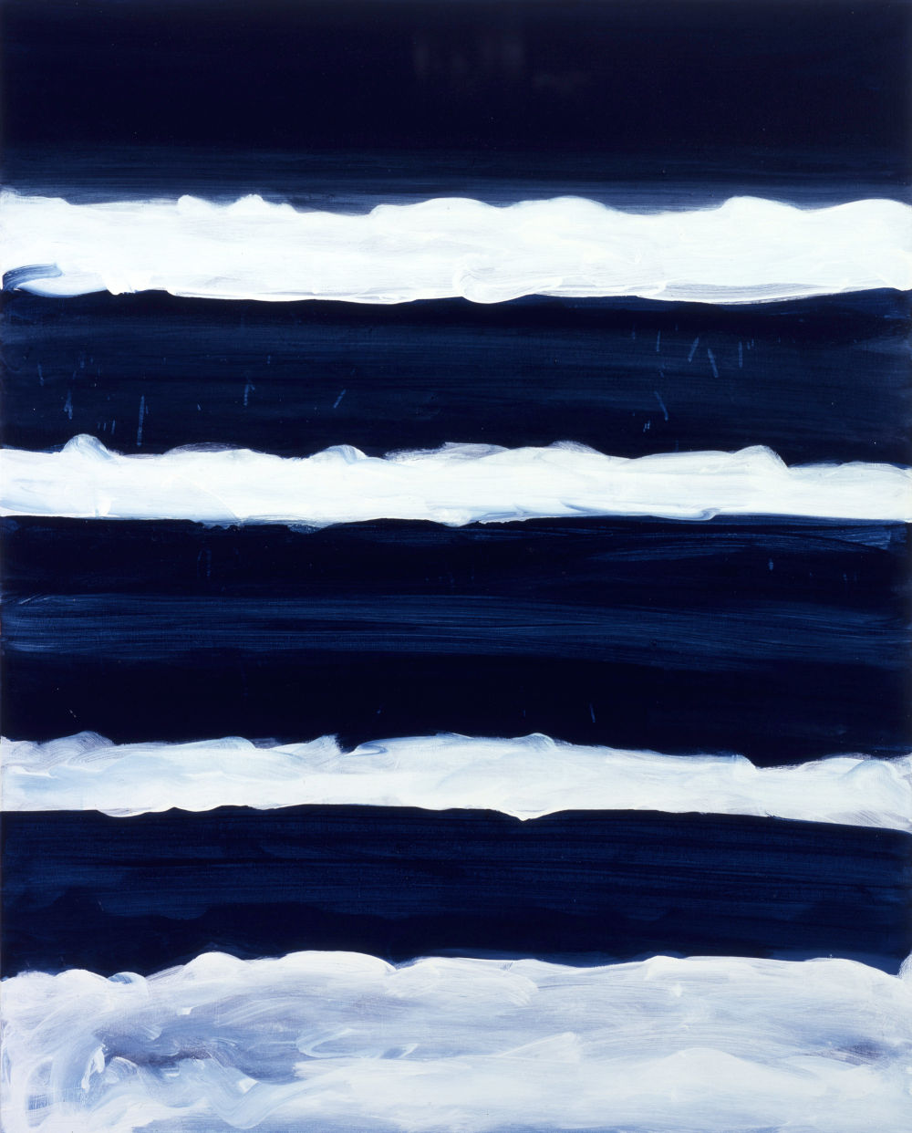 Mary Heilmann, Night Swimmer, 1998. Oil on canvas 50 1/8 x 40 1/8 x 1 3/8 inches (127.3 x 101.9 x 3.5 cm) © 2019 Mary Heilmann. Courtesy of the artist; 303 Gallery, New York; and Hauser & Wirth, London