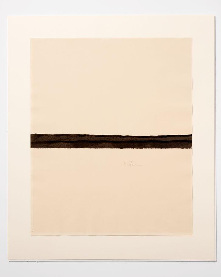 Piero Manzoni, Linea (Line), 1960. Ink on paper 60 x 49 cm / 23 5/8 x 19 1/4 in HEART Herning Museum of Contemporary Art. Photo: Søren Krogh © Fondazione Piero Manzoni, Milano. Courtesy of the Foundation and Hauser & Wirth