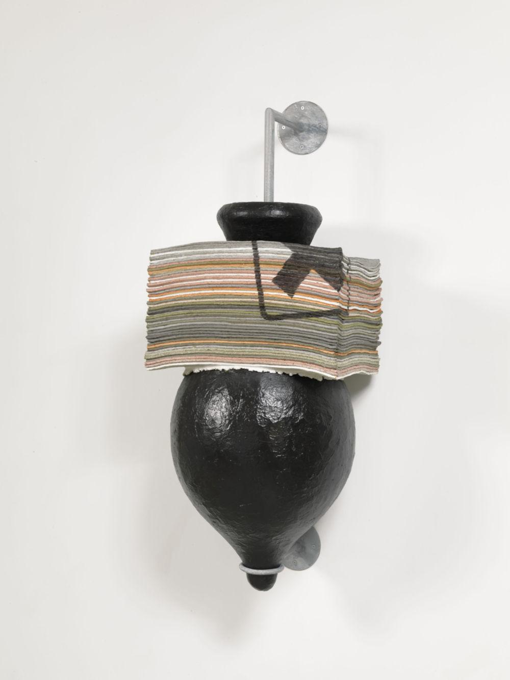 Perino & Vele, Elpìs 04, 2013. Papier-mâché, galvanized iron, fiberglass, bitumen, tempera (43 sheets), 126x48.5x49 cm