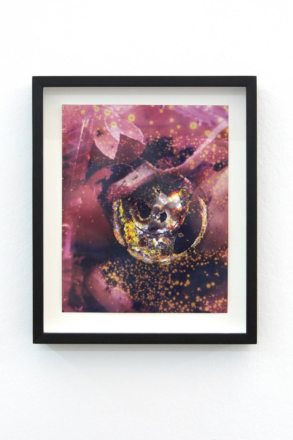 Ryan Foerster, universe, 2019. Unique c-print with debris. Image Dimensions: 24 x 20 cm (9.45 x 7.87 inches) Courtesy of the artist & VNH Gallery. Photo: Johanna Benaïnous