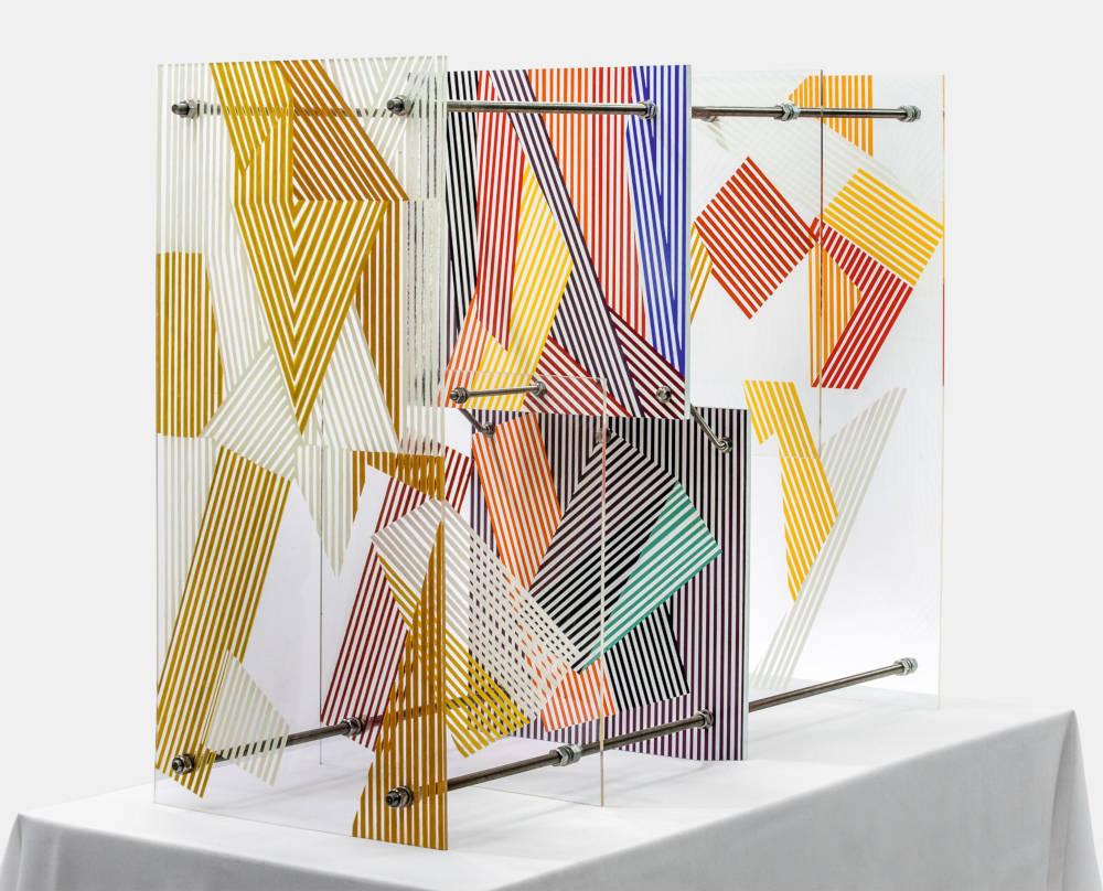 Soto, Harmonie transformable / Armonía transformable, 1956. Paint on Plexiglas and wood 80 x 40 x 100 cm / 31 1/2 x 15 3/4 x 39 3/8 in © 2019 Artist Rights Society (ARS), New York / ADAGP, Paris