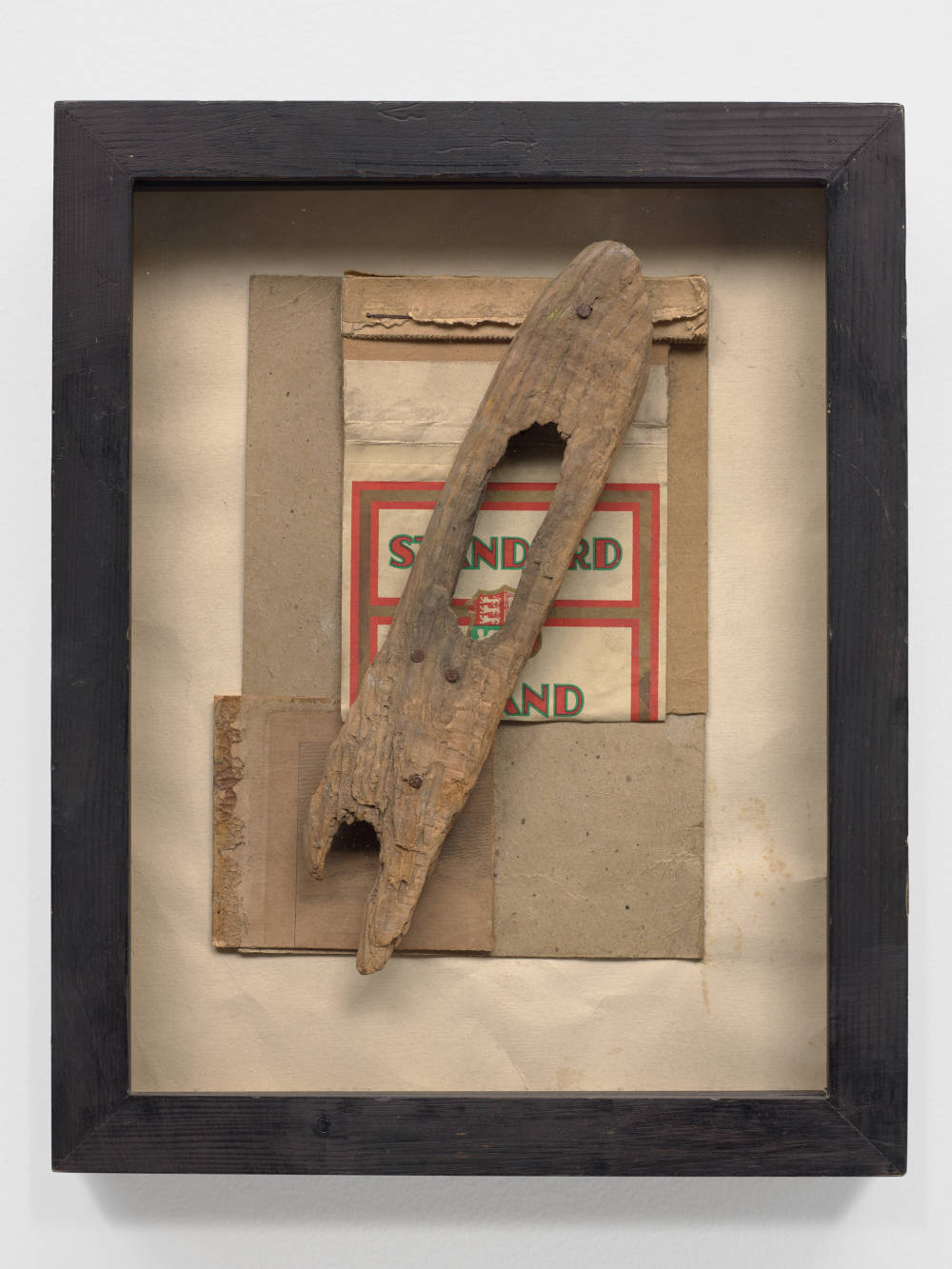 Kurt Schwitters, Untitled (Standard with wood), 1947