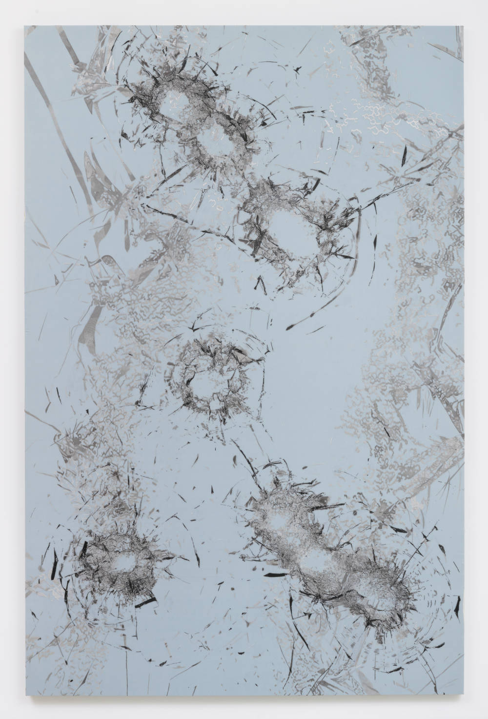 Zhao Zhao, Constellation 7, 2019. Embroidery on silk 117.32 x 77.16 inches (298 x 196 cm) Courtesy of the artist and Roberts Projects, Los Angeles, California