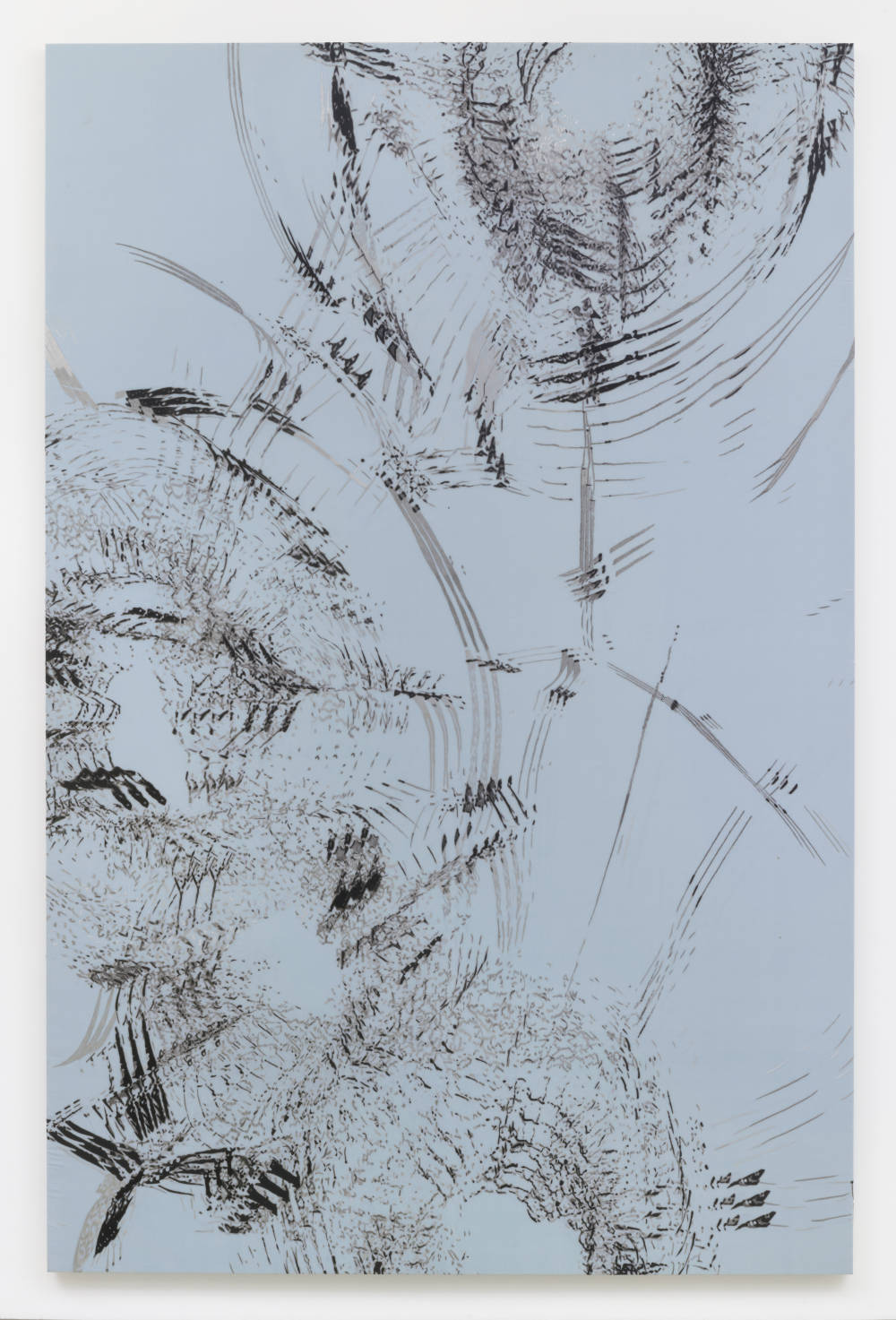 Zhao Zhao, Constellation 8, 2019. Embroidery on silk 117.32 x 77.16 inches (298 x 196 cm) Courtesy of the artist and Roberts Projects, Los Angeles, California