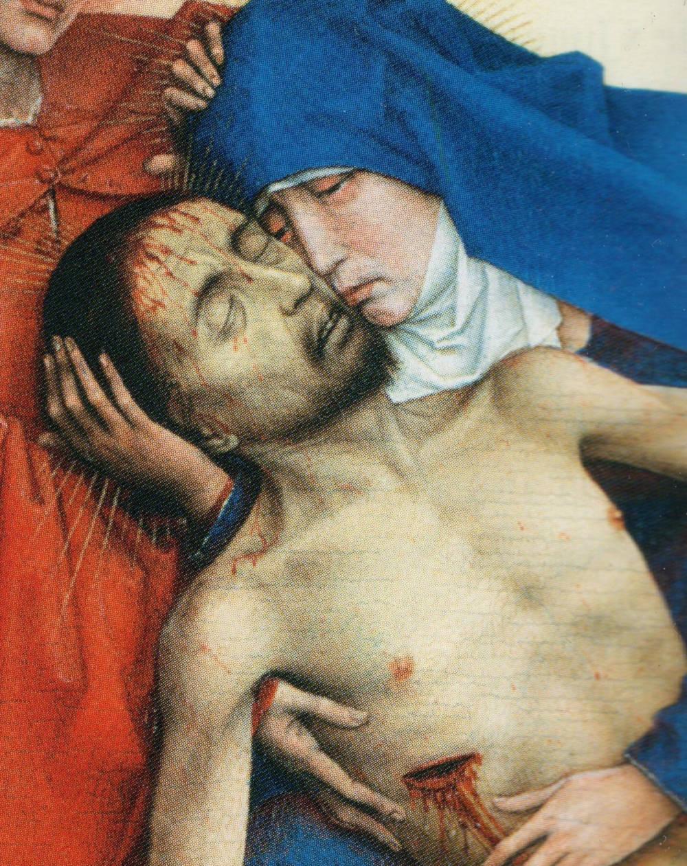 Chercher l'inconsolable (Detail of La Piéta, Rogier van der Weyden, Musées Royaux des Beaux-Arts, Bruxelles)