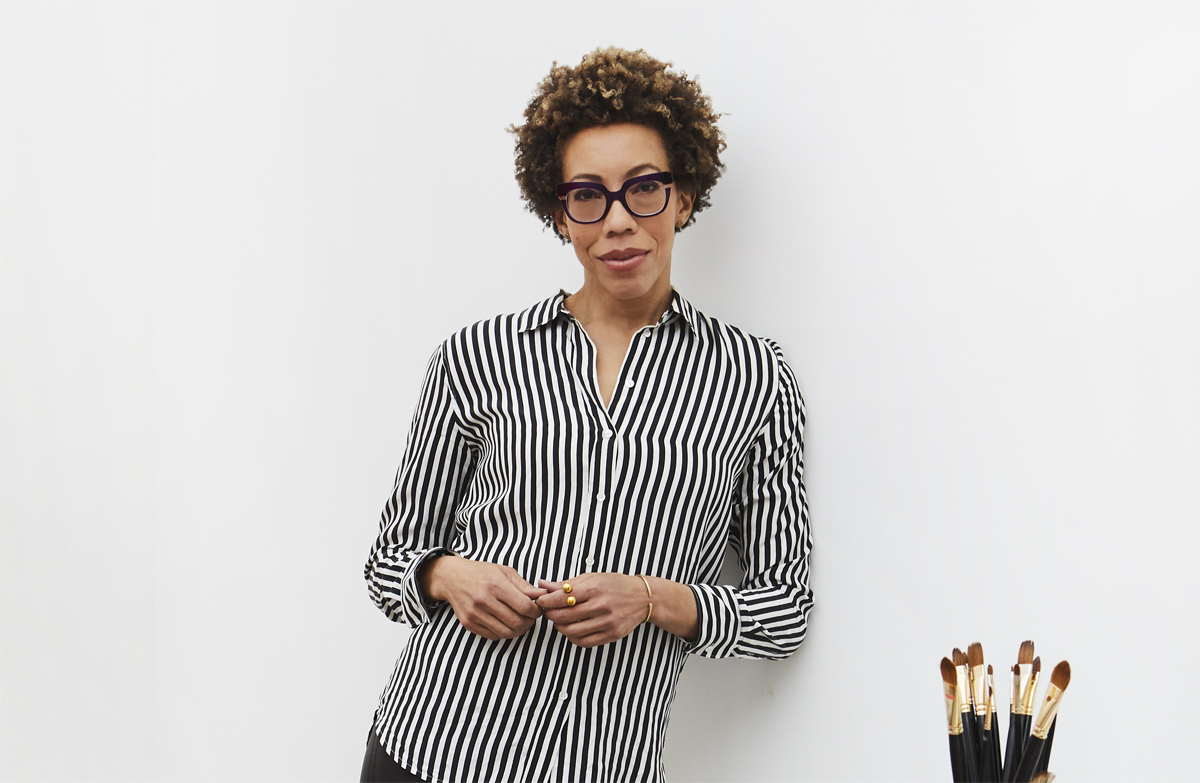 Amy Sherald in her studio
