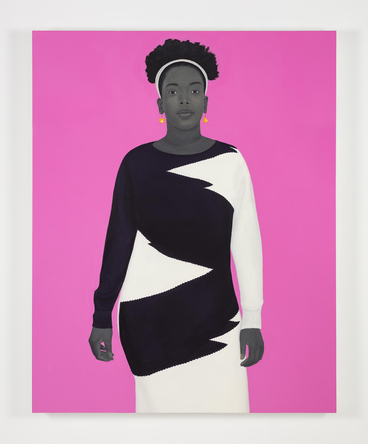 Amy Sherald's painting titled Sometimes the king is a woman