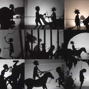 Kara Walker: From Black and White to Living Color: The Collected Motion Pictures and Accompanying Documents of Kara E. Walker, Artist. @Sprüth Magers, Grafton St., London  - GalleriesNow.net