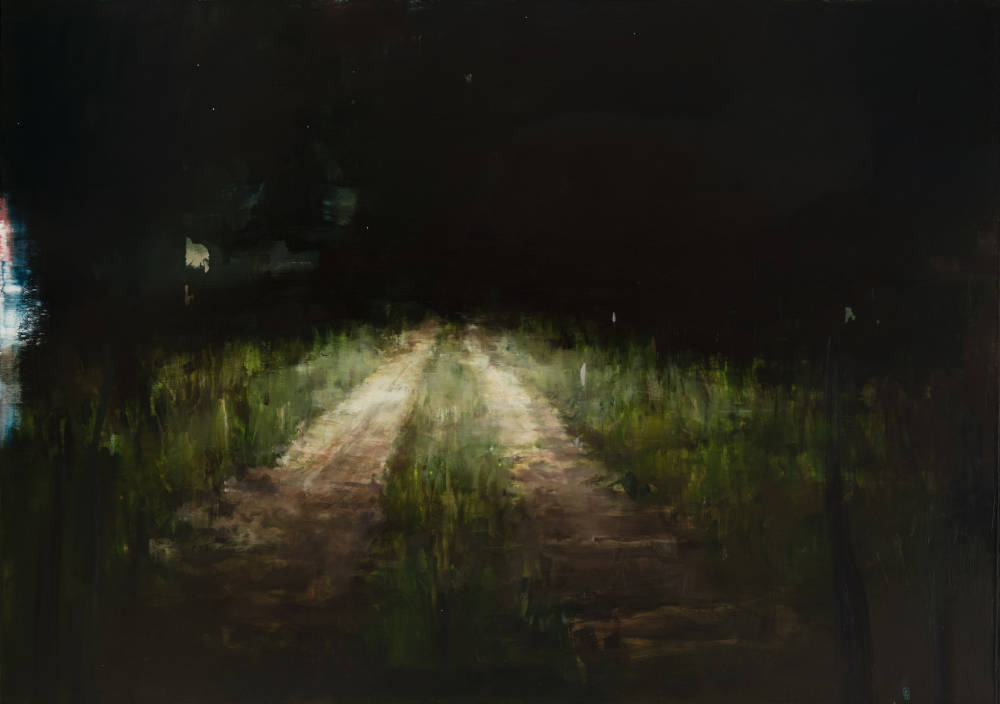Road with Headlights