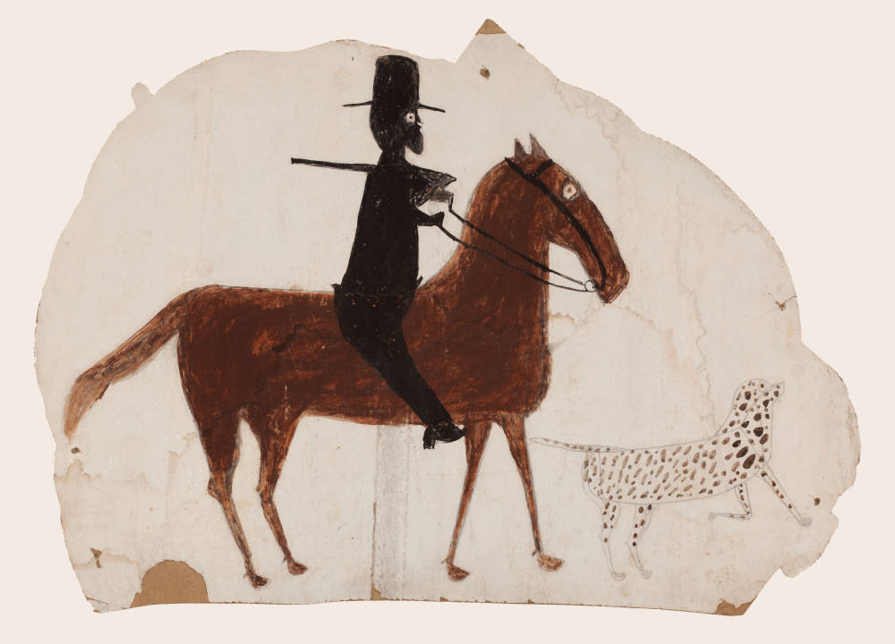 Hunter on Horseback with Spotted Dog