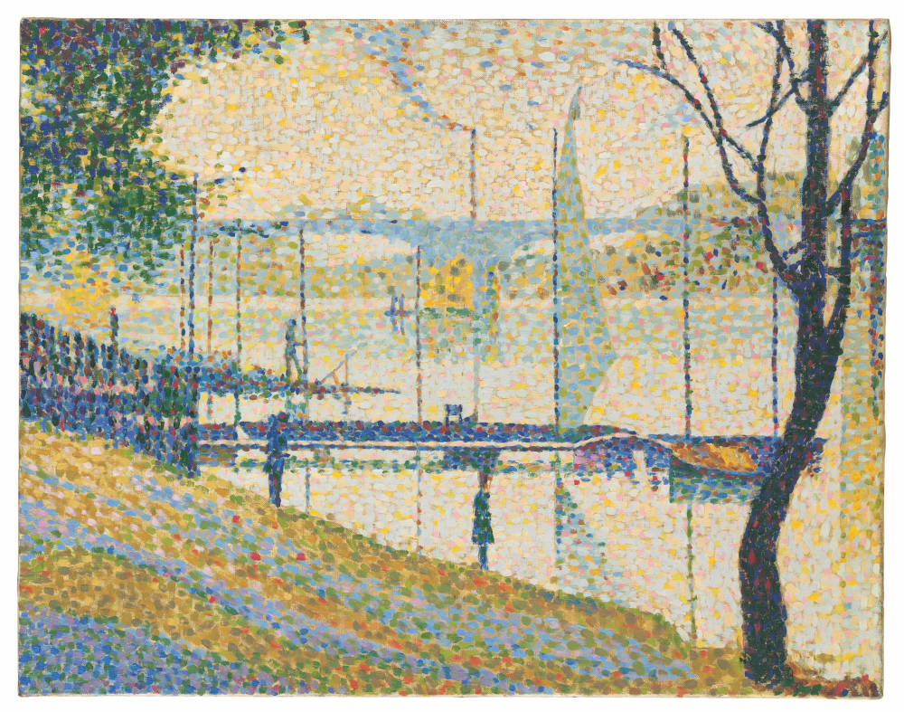 Copy after 'Le Pont de Courbevoie' by Georges Seurat