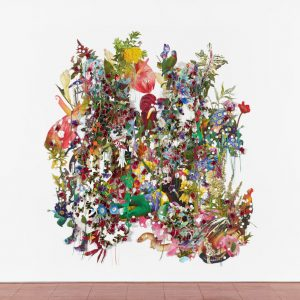 Ebony G. Patterson: …to dig between the cuts, beneath the leaves, below the soil… @Hales, New York  - GalleriesNow.net