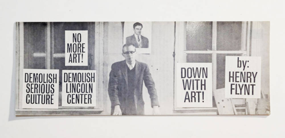Down with art!