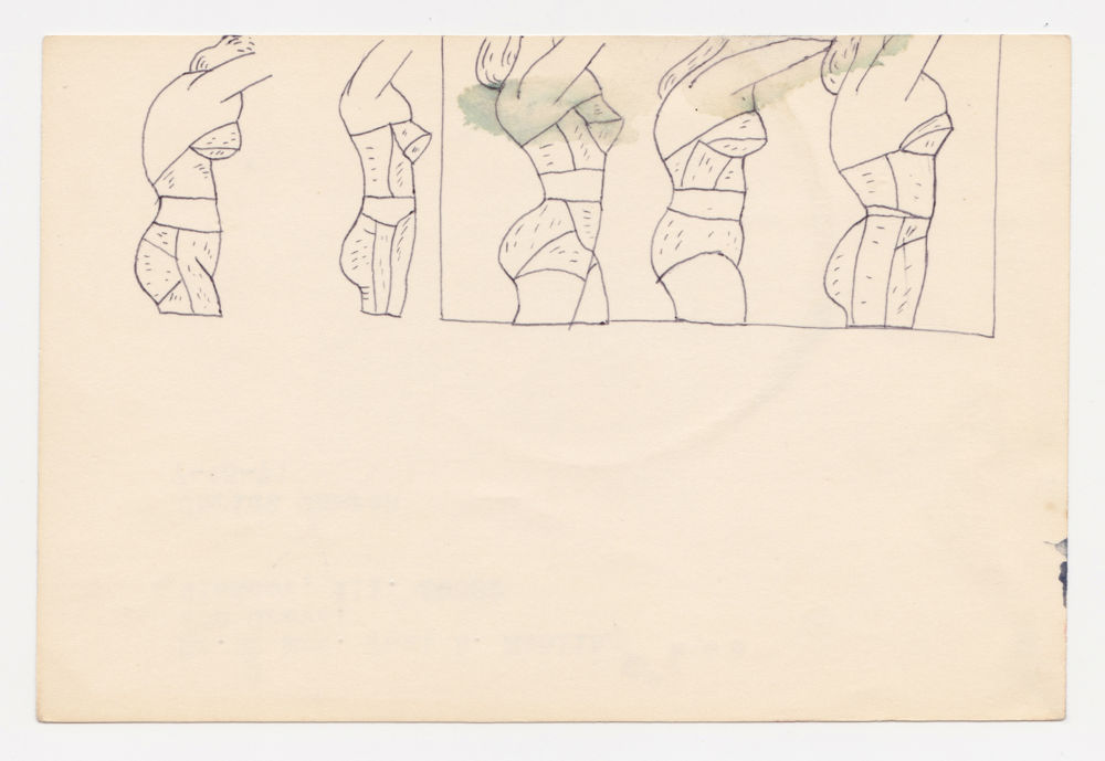 Untitled (underwear torsos in profile)
