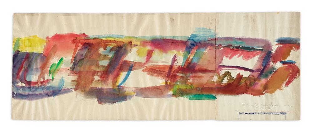Entwurf zu einem Wandfries(s), 1 x 30m, in der Chirurgie, Landeskrankenhaus in Klagenfurt (Design for a wall frieze, 1 x 30m, at the Surgical Ward State Hospital in Klagenfurt)