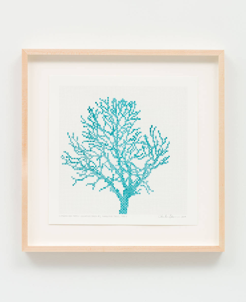 Numbers and Trees: Assorted Trees #7, Turquoise Trees, Tree F