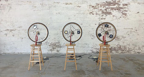 Duchampiana: Bicycle Wheel One, Two, and Three