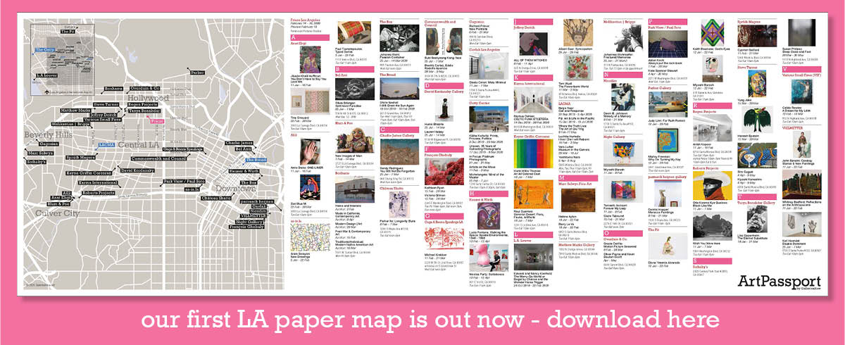 the first ArtPassport LA gallery map is out now