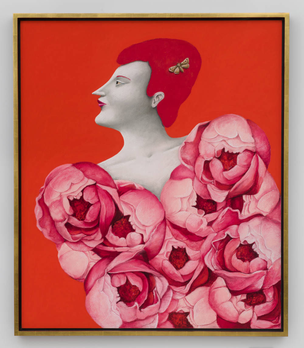 Portrait with Roses