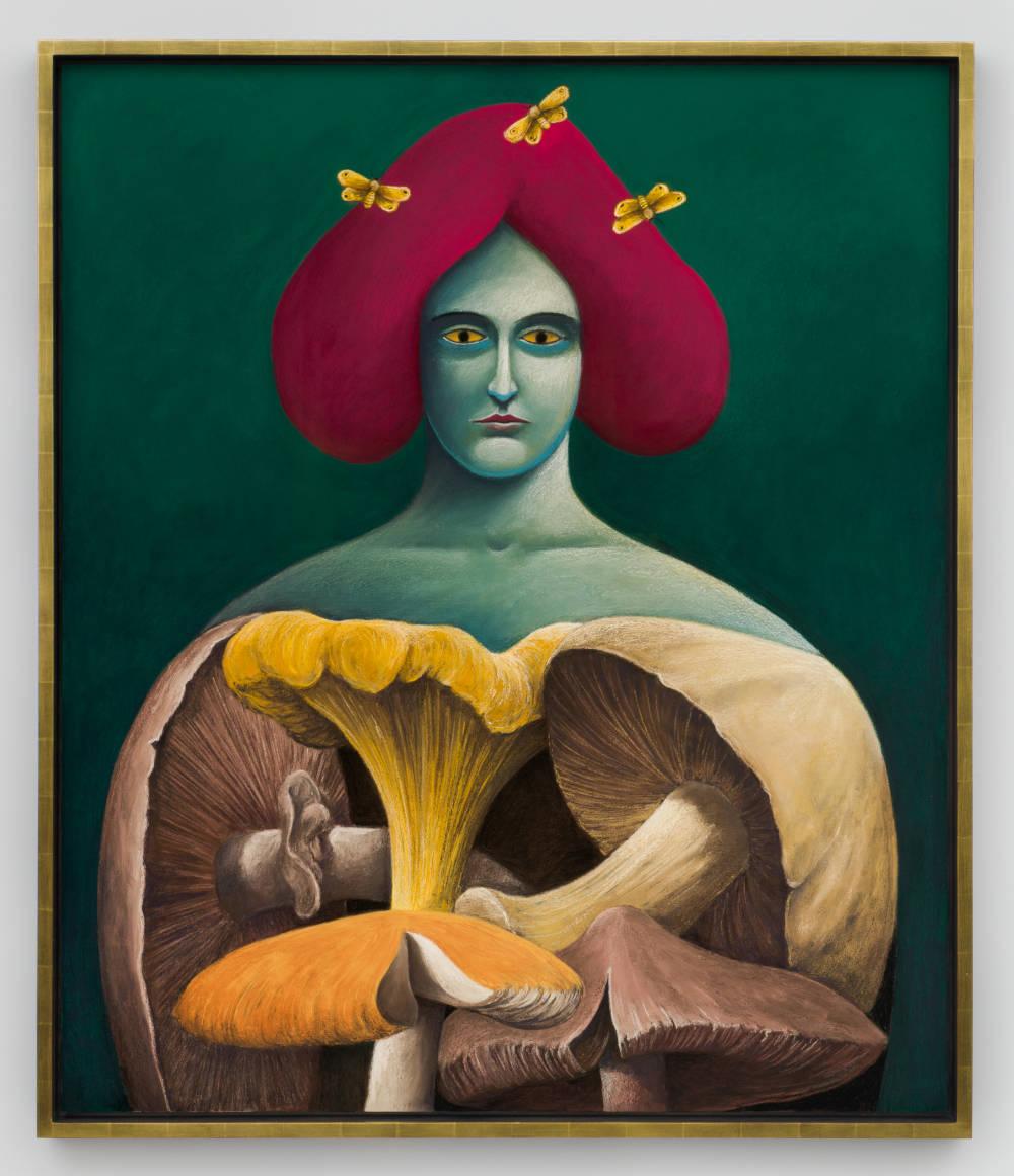 Portrait with Mushrooms