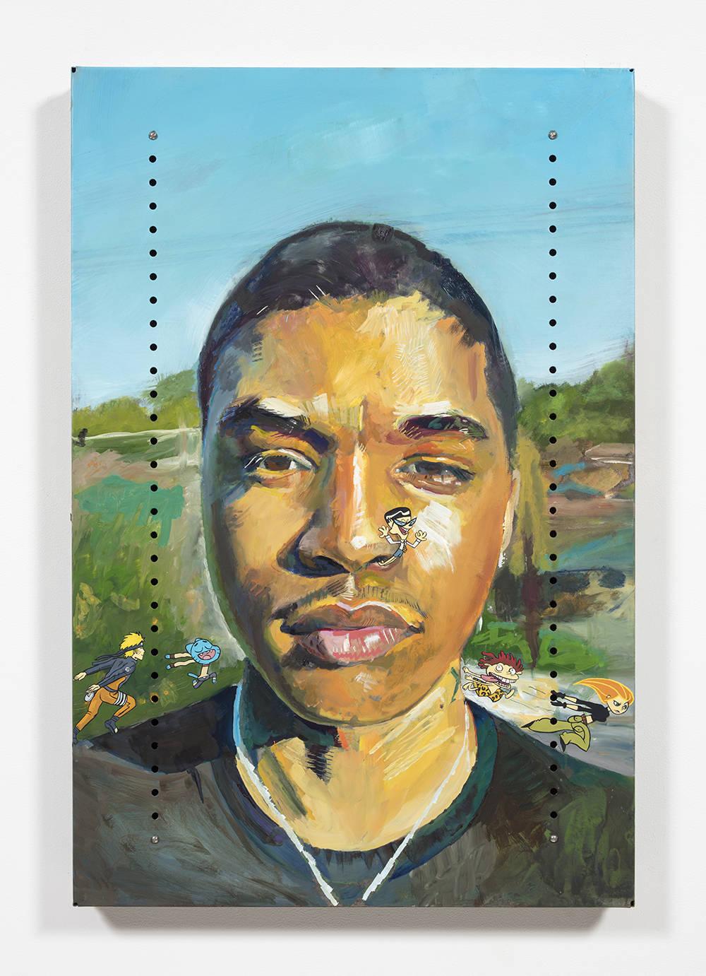 Untitled Portrait of Jon (mandark, naruto, gumball, dannie and kim possible)