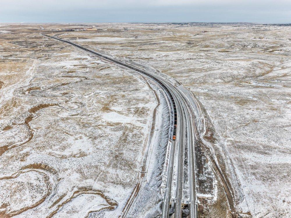 Coal Train, Near Gillette, Wyoming, USA
