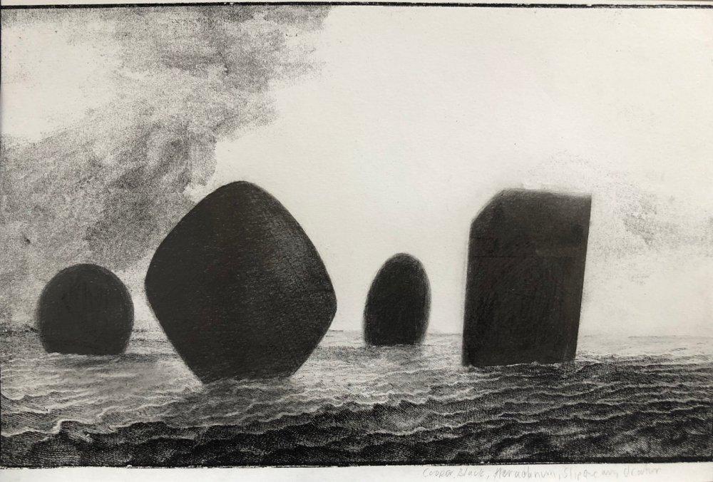 Cooper Black, Herculanum, Slipstream, Orator (From the series: Full Stop Seascape)