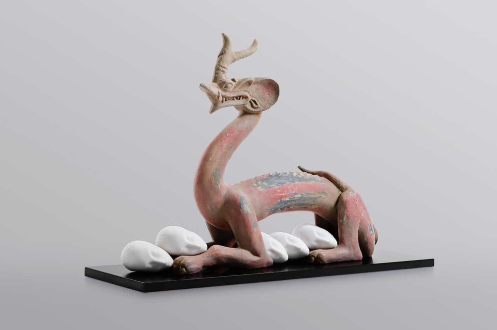 Eternity- Six Dynasties Period Painted Earthenware Dragon, Sleeping Muse