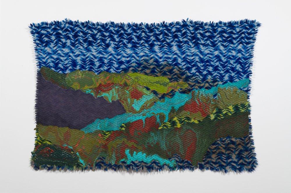 Untitled (landscape on blue afghan)
