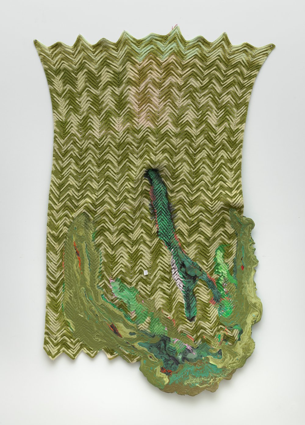 Untitled (green afghan)