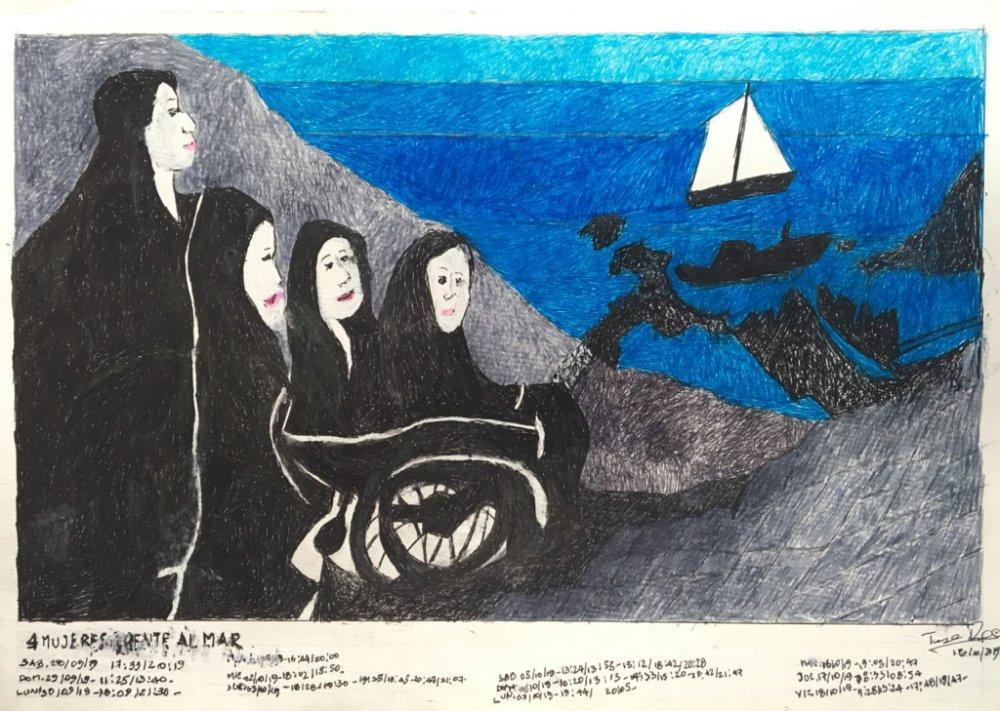 4 Mujeres frente al mar Fecha: 16 octubre 2019