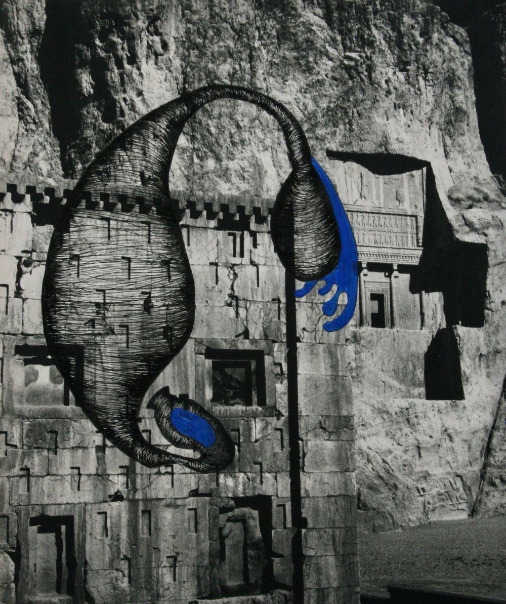 Achaemenian rock-cut tombs Naghsh-e Rostam / fragment