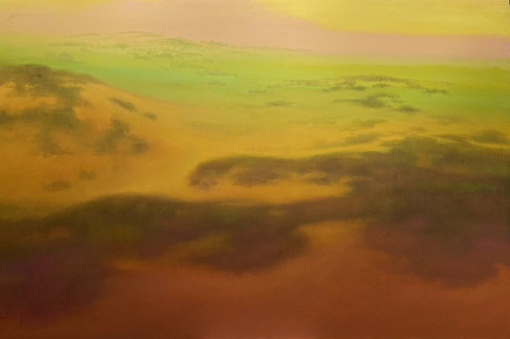 Sunrise Over Yellow Dunes