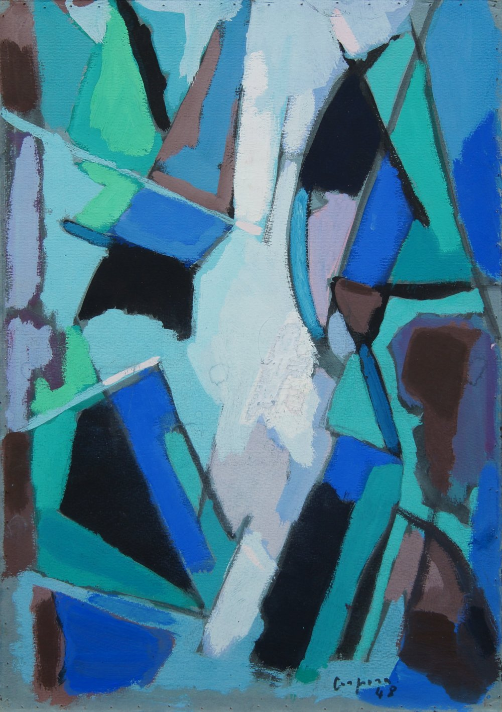 Abstract in blue and green